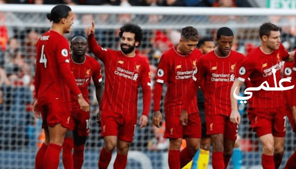ليفربول يتصدر قائمة الدوري الإنجليزي